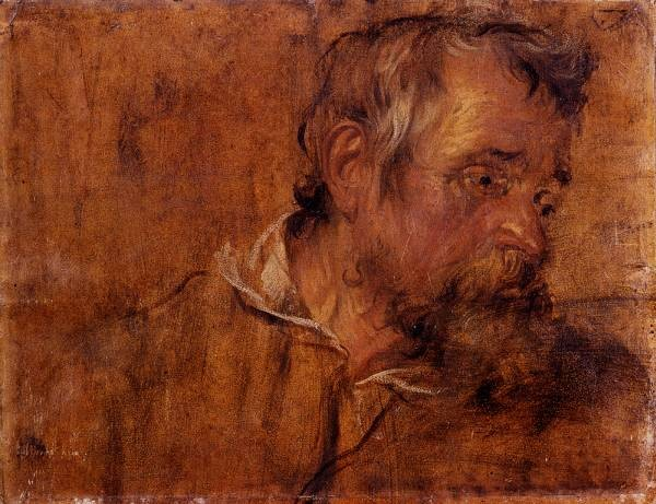 Dyck Anthony Van Profile Study Of A Bearded Old Man